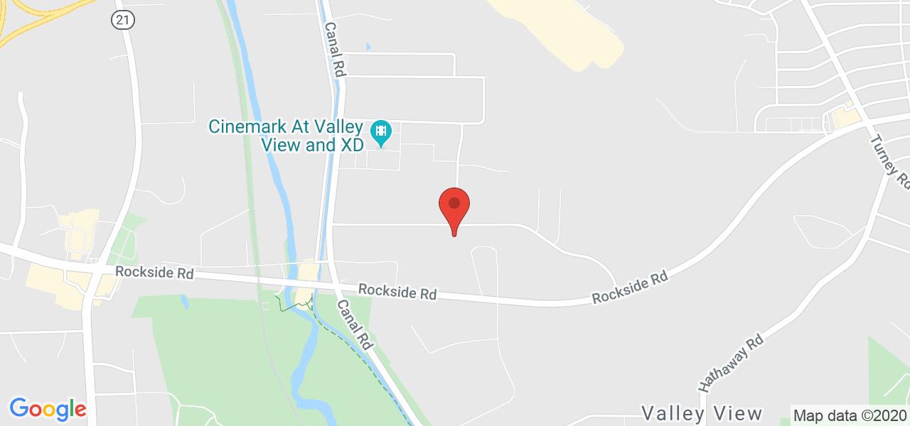 Mapa de Google para las coordenadas 41.395800 por -81.619519.