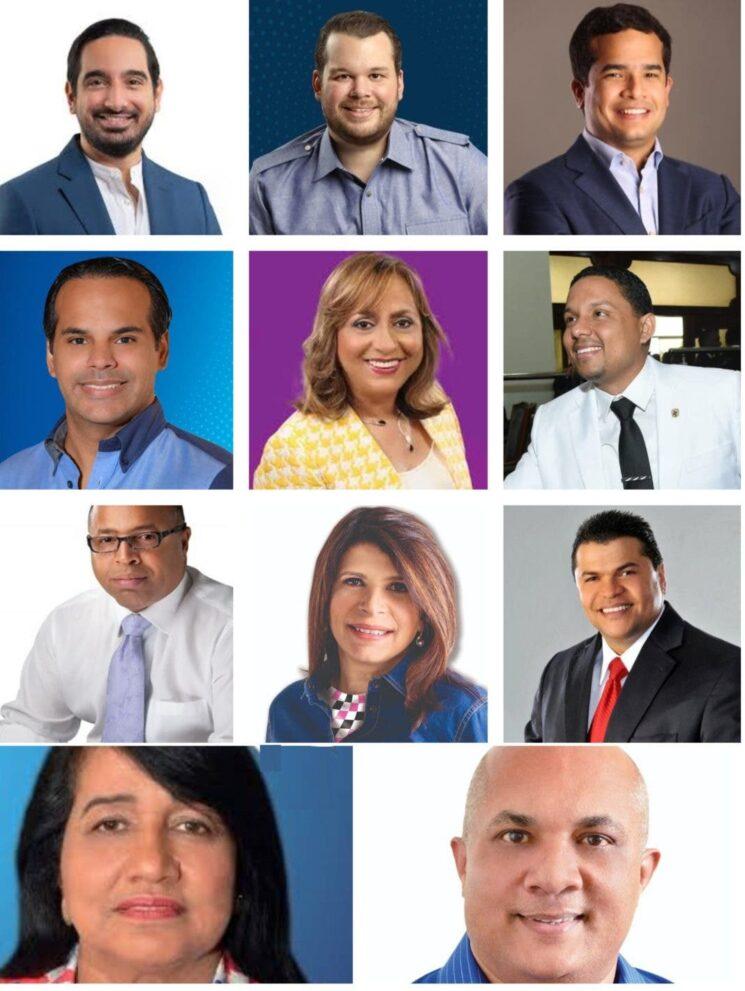 Nombres de los posibles diputados que ganaron en el Distrito Nacional
