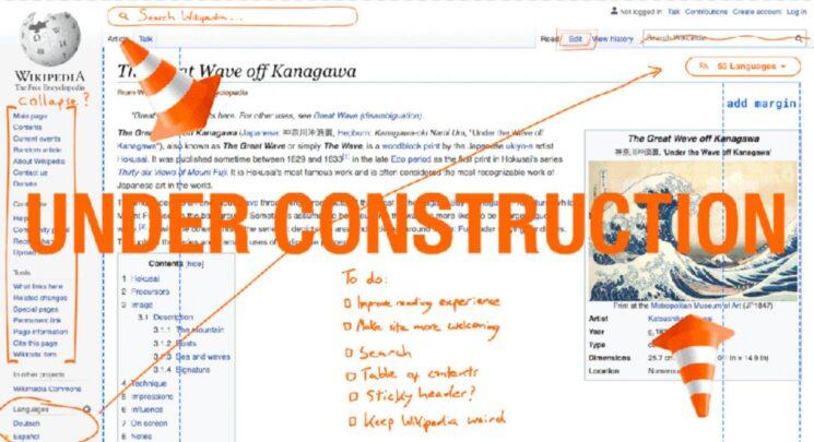 Wikipedia comienza un cambio de look radical tras 10 años sin realizar ninguno