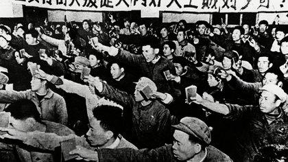 Guardias Rojos Chinos durante la Revolución Cultural China (Shutterstock)