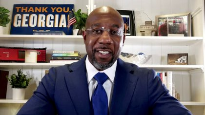 El candidato demócrata Raphael Warnock. Warnock for Georgia/Social Media via REUTERS