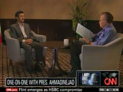 Con el entonces presidente iraní, Mahmoud Ahmadinejad, el 23 de septiembre de 2010