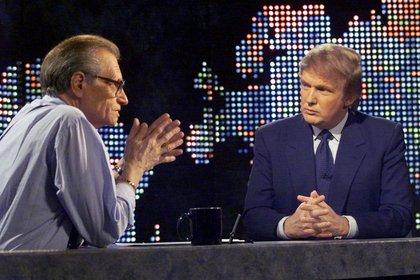 Con Donald Trump, en Nueva York, Estados Unidos, el 7 de octubre de 1999.