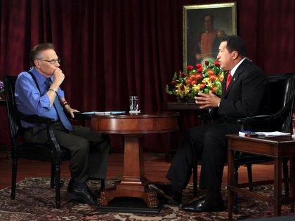 Con el venezolano Hugo Chávez, el 24 de septiembre de 2009.