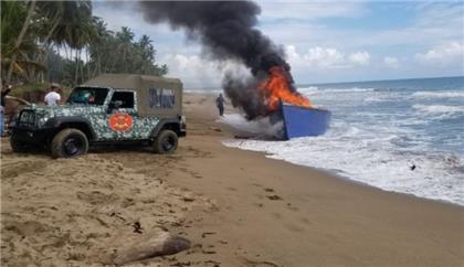 Armada Dominicana frustra viaje ilegal en yola que saldría desde Nagua