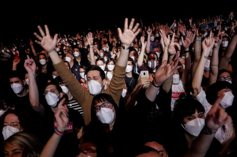 España celebró su primer concierto masivo en pandemia: 5