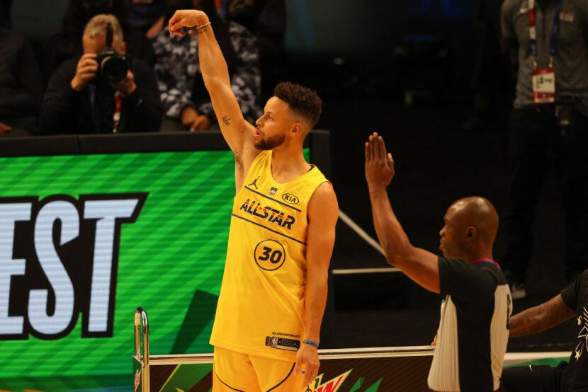 La superestrella Stephen Curry gana el concurso de triples All-Star de la NBA 2021
