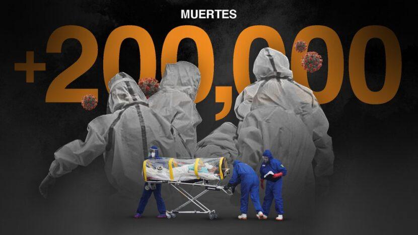 México ya superó los 200,000 muertos por COVID-19