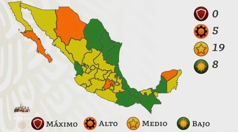 México se pinta de amarillo en el semáforo por COVID