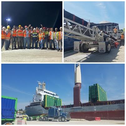 Minera Belfond exporta 8 mil toneladas métricas de carbonato de calcio hacia los EE. UU.