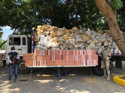 CESFRONT incauta 120 mil unidades de cigarrillos en Dajabón