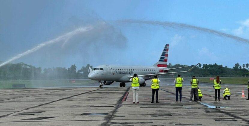 American Airlines inaugura nuevo vuelo entre Samaná y Charlotte